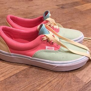 Bright colored and colorful vans